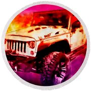 2017 Jeep Unlimited Beast Round Beach Towel