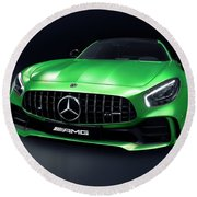 2017 Mercedes Amg Gt R Coupe Sports Car Round Beach Towel