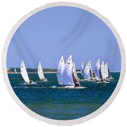 2017 National E-scow Championship Round Beach Towel