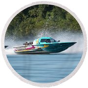 2017 Taree Race Boats 08 Round Beach Towel