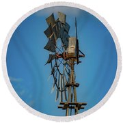 2017_08_midland Tx_windmill 8 Round Beach Towel