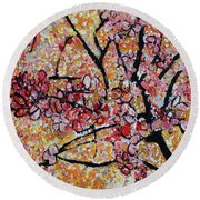 201727 Cherry Blossoms Round Beach Towel