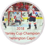2018 Stanley Cup Champions Washington Capitals Round Beach Towel