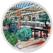 201804 Bonsai And Penjing Museum Washington Round Beach Towel