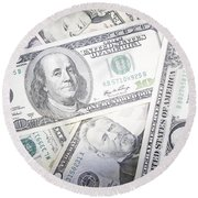 American Banknotes 3 Round Beach Towel