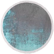 Blue Metal Round Beach Towel