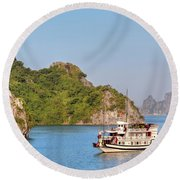 Halong Bay - Vietnam Round Beach Towel