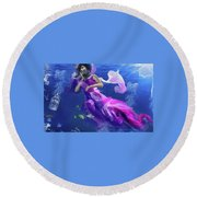 Women Round Beach Towel