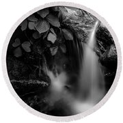 Broad River Flowing Through Wooded Forest Round Beach Towel