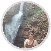Harpal Singh Jadon Round Beach Towel