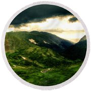 In The Landscape Round Beach Towel