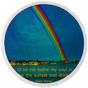 227- Khalil Gibran Round Beach Towel
