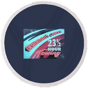 23 1/2 Hour Towing Round Beach Towel by Alan Johnson