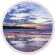 Daybreak Seascape Round Beach Towel