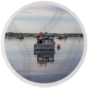 Down East Maine  Round Beach Towel