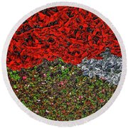 Flower Carpet. Round Beach Towel