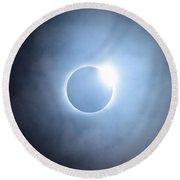 #24 August 2017 Solar Eclipse Round Beach Towel