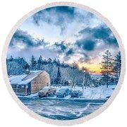 Beautiful Nature And Scenery Around Snowshoe Ski Resort In Cass  Round Beach Towel
