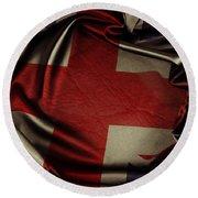 British Flag 5 Round Beach Towel