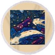 Koi Fish Round Beach Towel