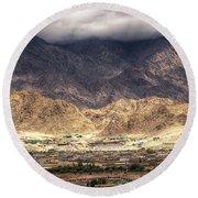 Landscape Of Ladakh Jammu And Kashmir India Round Beach Towel