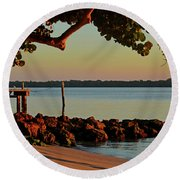 24- Morning In North Palm Beach Round Beach Towel