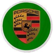 Porsche Label Round Beach Towel