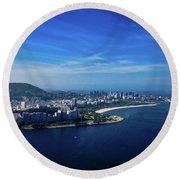 Rio De Janeiro Round Beach Towel