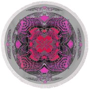 2450 Mandala 2017 Round Beach Towel
