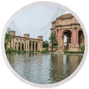 2464- Palace Of Fine Arts Round Beach Towel