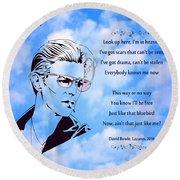 256- David Bowie Round Beach Towel