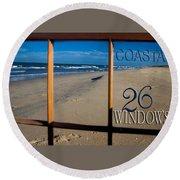26 Windows Coastal Round Beach Towel