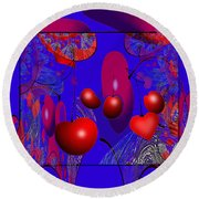 2613 Cherry Fractal 2018 Round Beach Towel
