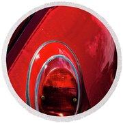 2665- Red Volkswagen  Round Beach Towel