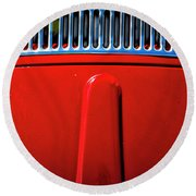 2674- Red Volkswagen  Round Beach Towel
