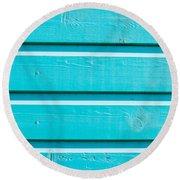 Blue Wood Round Beach Towel