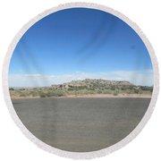 Desert Landscape Round Beach Towel
