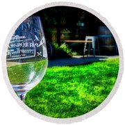 2719- Mauritson Wines Round Beach Towel