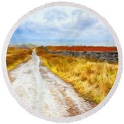 Nature Art Landscape Round Beach Towel