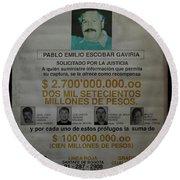 Bogota Museo Historico Policia Round Beach Towel