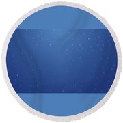 28103 Simple Blue Simple Blue Round Beach Towel