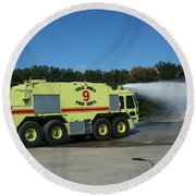Firefighting Round Beach Towel