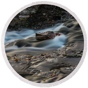 Grand Falls Waterfall Round Beach Towel