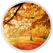 Landscape Nature Round Beach Towel