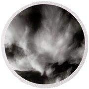 298 - Atmospheric - Cloud Cluster Round Beach Towel