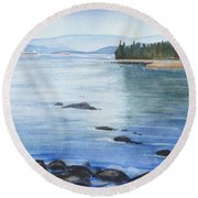 2nd Beach, Vancouver Round Beach Towel