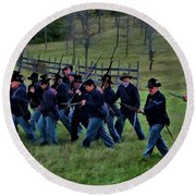2nd Wi Infantry Black Hats Round Beach Towel