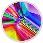 2x1 Abstract 303 Round Beach Towel