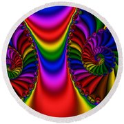 2x1 Abstract 440 Round Beach Towel