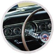 1966 Ford Mustang Cobra Steering Wheel Round Beach Towel